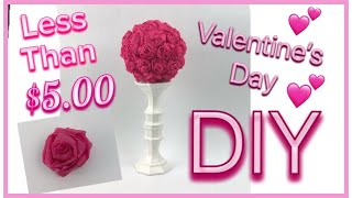 VALENTINE'S DAY DIY 💕 | DOLLAR TREE | TOPIARY | Country Girl