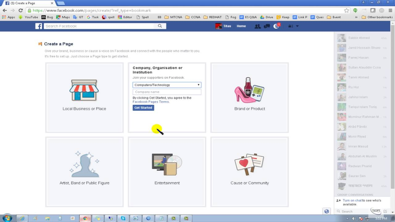 How To Create A Facebook Page Facebook Bangla Tutorial