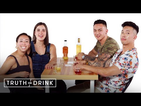 Best Friends Go On a Double Blind Date (Briana, Cat, Antonio, & Kwan) | Truth or Drink | Cut
