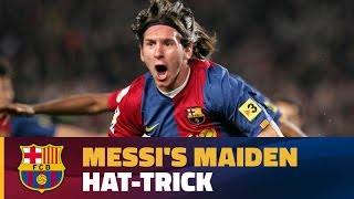 It was 10 march 2007, when a 19-year-old by the name of leo messi announced himself to world football with his first ever hat-trick for club in th...