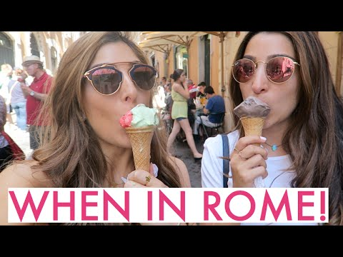 Ice Cream Overload, Hannah Pranks Me & Tourist Time in ROME!   Amelia Liana Vlog