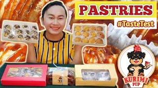 Creampuffs,Cream Cheese Brownies, Chocolate Banana Loaf & Panda Crinkles  ||Pastries Taste Test