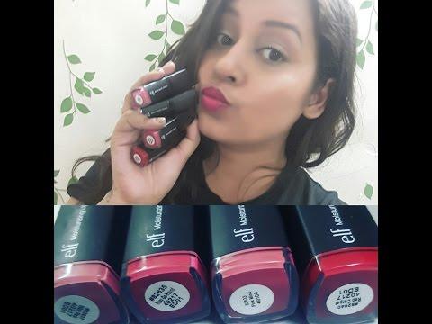 ELF Moisturizing Lipstick + Lip swatches on indian /brown/ olive skintone