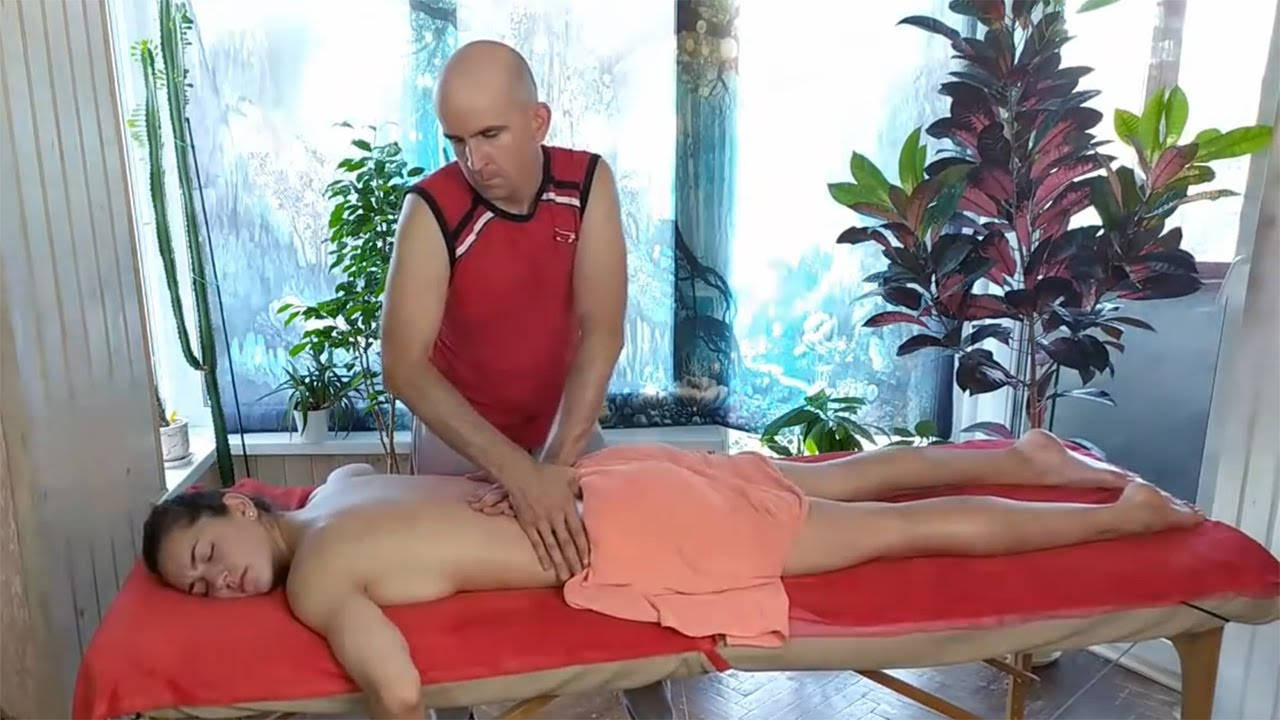 [ASMR] Welness back massage