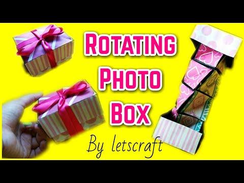 Unique Instax Card Tutorial   Spiral Rotating Box tutorial   Camera Card Tutorial