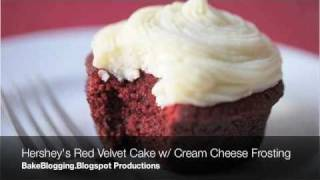 Hershey's Red Velvet Cupcakes & Whipped Cream Cheese Frosting