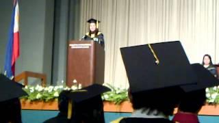 Erika Marie Grau Tumbaga.. Magna Cum Laude Speech.. So proud of you..