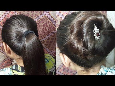 Jora Hairstyle Step By Step at Home   Beautiful Jora Style   Easy Hairstyles Eid 2018