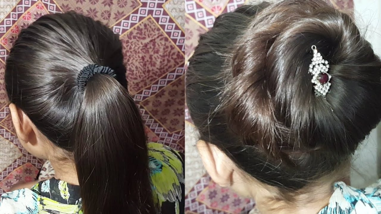 Jora Hairstyle Step By Step at Home | Beautiful Jora Style | Easy ...
