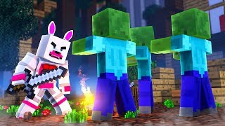 Funtime Foxy In The Blocking Dead (Minecraft Fnaf Roleplay Adventure)