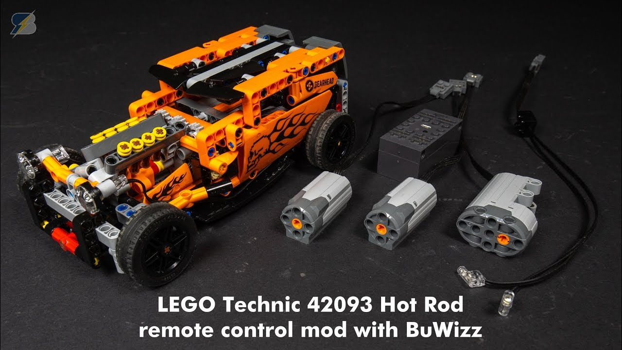 lego technic 42093 hot rod rc mod with buwizz youtube. Black Bedroom Furniture Sets. Home Design Ideas