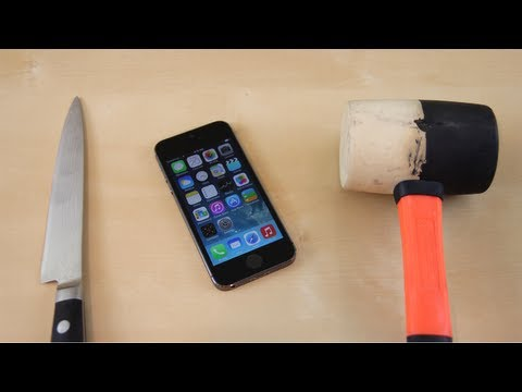 Apple iPhone 5s Hammer Crush & Knife Scratch Test