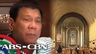 TV Patrol: Duterte, muling binanatan ang Simbahang Katolika