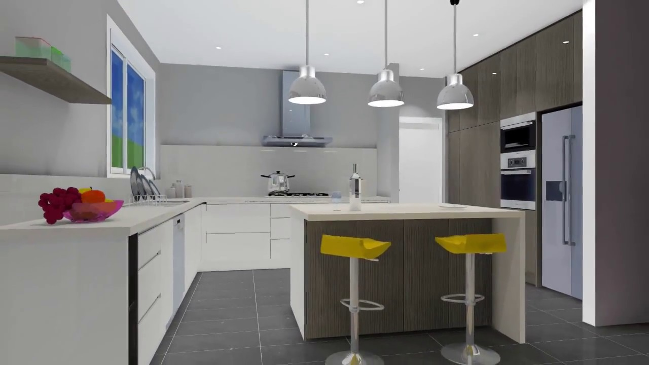 Kd Max 3d Kitchen Design Software Free Download Kd Max Kitchen Fly Through Youtube
