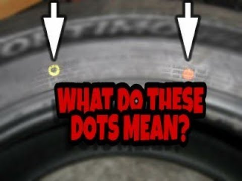 What The Red And Yellow Dots on Tires Are For And Replacing Tires On An AWD Vehicle