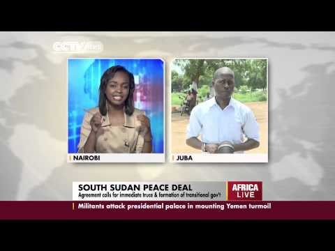 Live Cross To CCTV's Robert Nagila In South Sudan