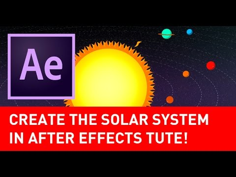 How to create the solar system in After Effects tutorial
