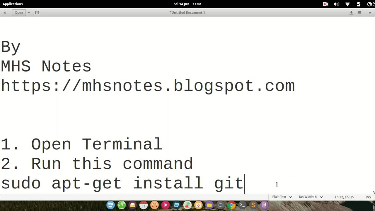 How To Install Git in Linux Ubuntu elementary OS Linux Mint
