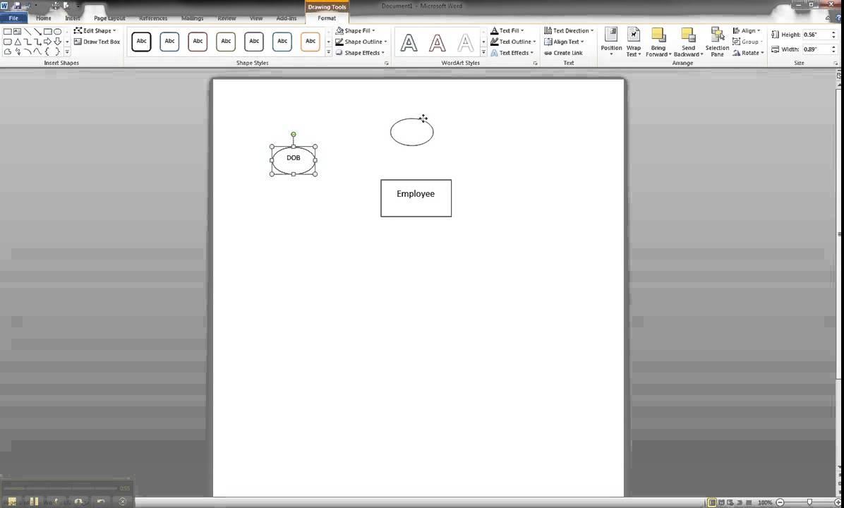 Er Diagram In Ms Word Part 2
