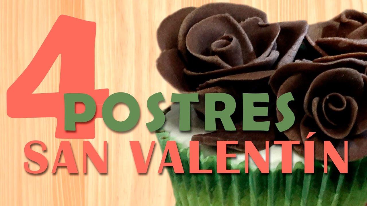 4 postres f ciles para san valent n youtube - Postre para san valentin ...