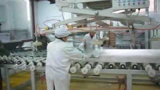 Laminated glass production