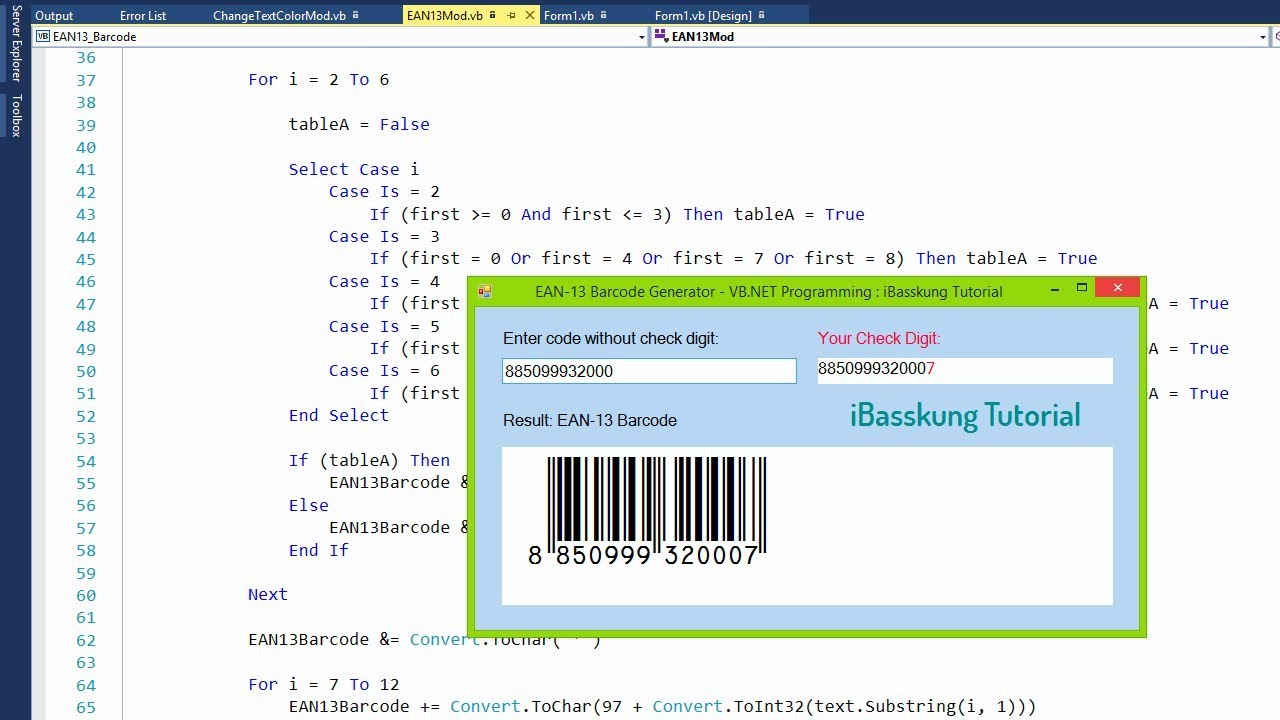 VB NET Programming How to Create EAN-13 Barcode Generator