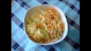 Салат из свежей капусты с морковью