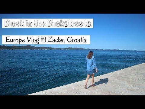 Europe Vlog #1 - Europe Trip Travel Day Zadar and Saharun Beach, Burek,