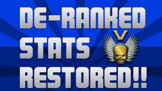 Modern Warfare 3 - De-Ranked Players Stats RESTORED!!!