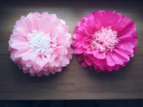 Diy Big Paper Flowers Youtube