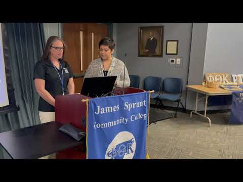 PTK Fall 2020 Virtual Induction at James Sprunt Community College