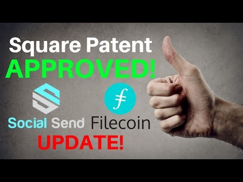 APPROVED! Square Wins Patent + Filecoin & Social SEND Updates - Today's Crypto News