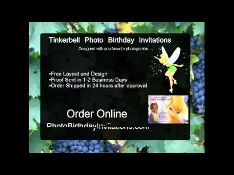 Photo Birthday Invitations Tinkerbell Invitation