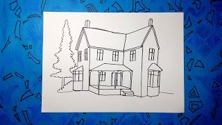 Cómo dibujar una casa paso a paso 4/4 - How to draw an easy house
