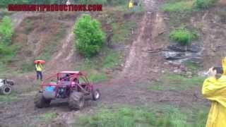RAIL BUGGY CRASHES OFF WALL