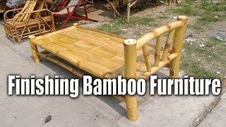 Finishing Bamboo Furniture Handcrafted Bed Chris Filipino Craftsman