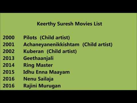 Keerthy Suresh Movies List