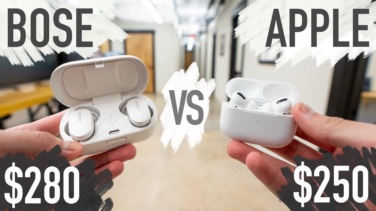 Airpods Pro Vs Bose Quiet Comfort Earbuds Best Premium Earbuds Youtube