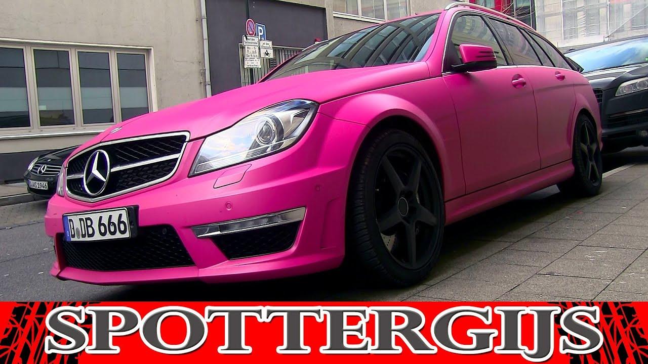 Matte pink mercedes benz c 63 amg estate in d sseldorf for Pink mercedes benz