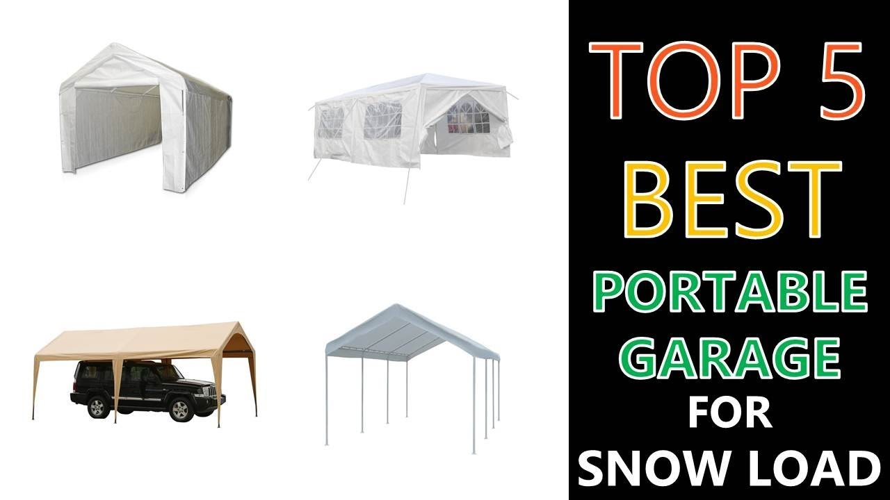 Best Portable Garage For Snow Load 2020 Youtube