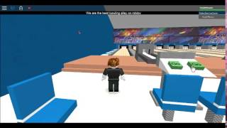 ROBLOX Bowling alley, working pinsetter tour #1