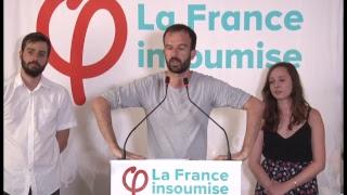 EN DIRECT - Conférence de presse de la France insoumise 02/07/2018 #ConfPresseFi