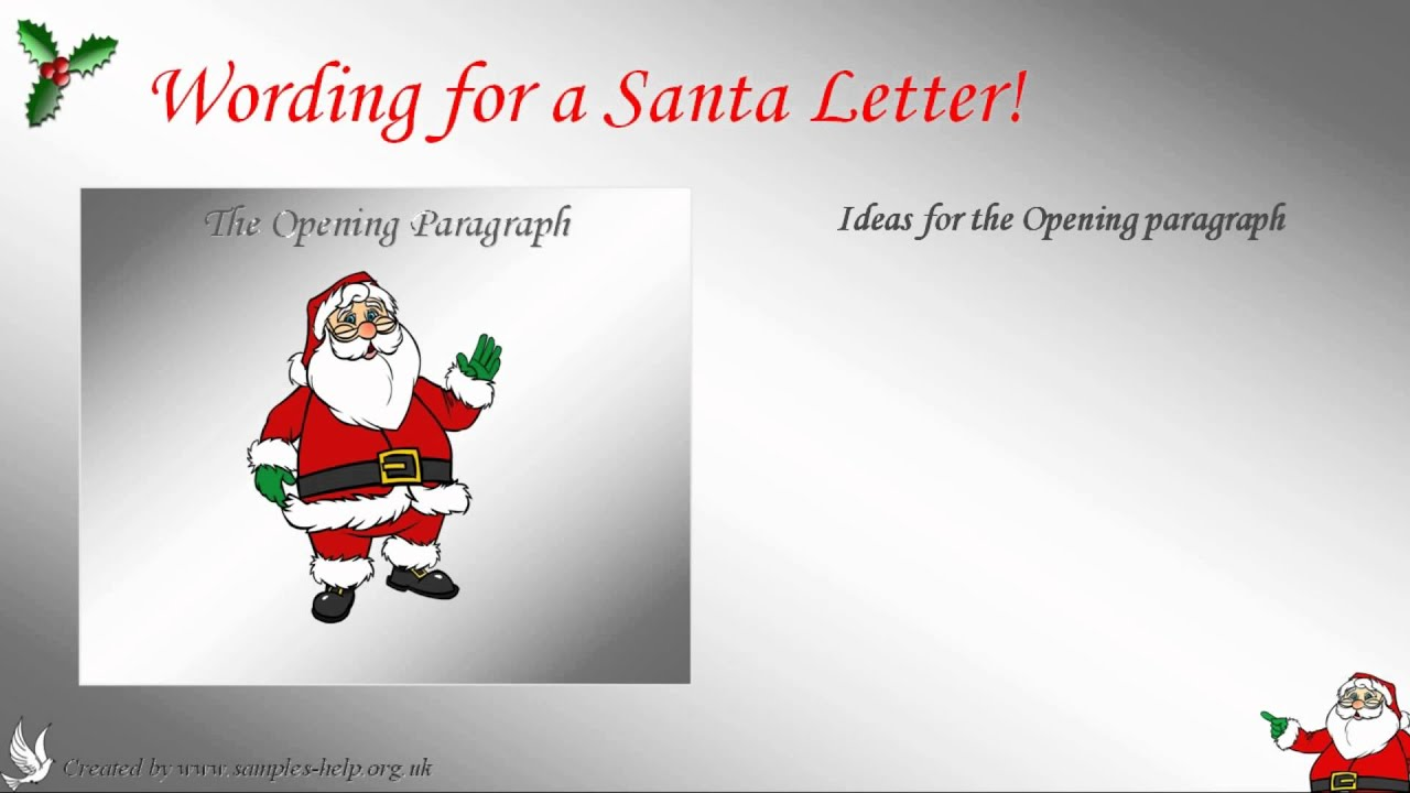 How to write a santa letter youtube spiritdancerdesigns Image collections