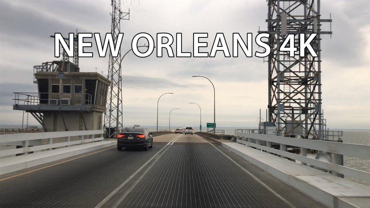 New Orleans 4K - World's Longest Bridge - Lake Pontchartrain Causeway