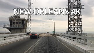 New Orleans 4k - Worldand39s Longest Bridge - Lake Pontchartrain Causeway