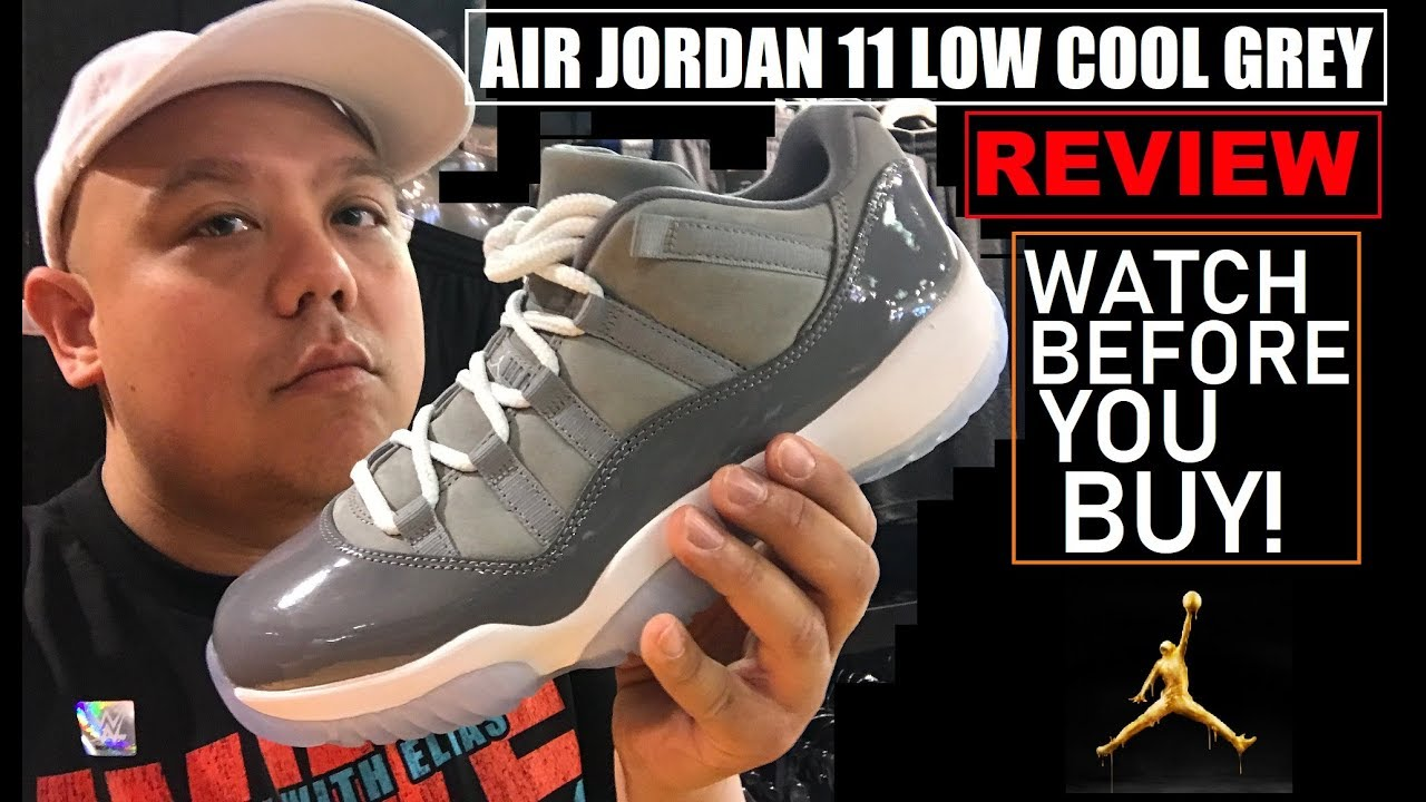 e39d3a90b8b1 AIR JORDAN 11 XI COOL GREY LOW 2018 RETRO HONEST REVIEW - WATCH BEFORE YOU  GET EM!