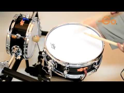 goedrum 12 inch snare drum and 10 inch bass drum demo 1 youtube. Black Bedroom Furniture Sets. Home Design Ideas