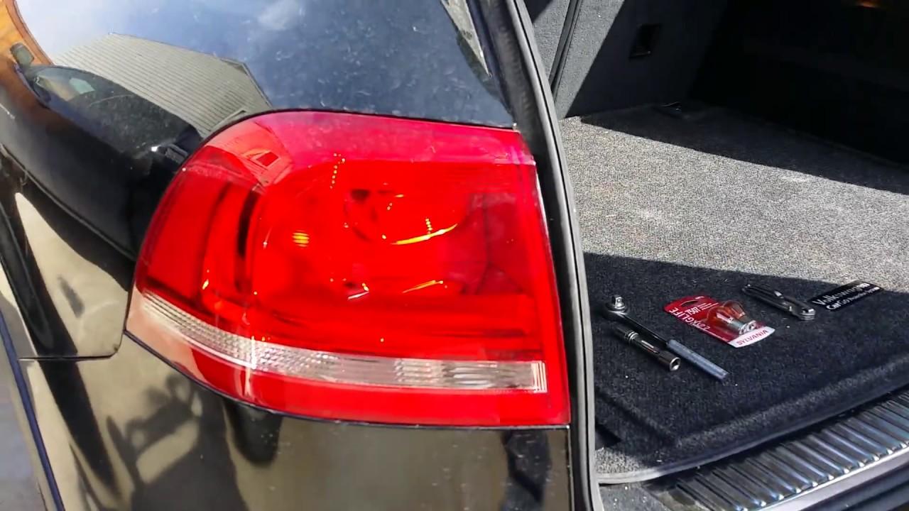 2017 Vw Touareg Taillight Bulb Change