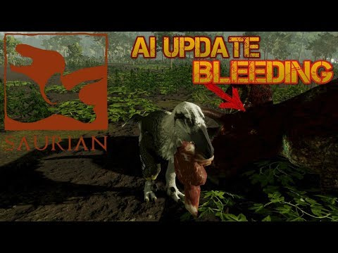 saurian-AI UPDATE & BLEEDING SYSTEM, DAKOTARAPTOR HUNTS TRIKE-GAMEPLAY ESPAÑOL-