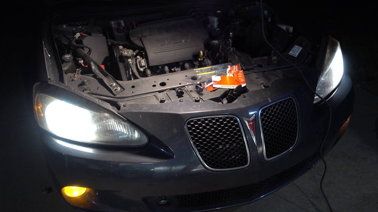 how to replace headlights on 2004 2005 2006 2007 and 2008 pontiac grand prix base gt gxp [ 1280 x 720 Pixel ]